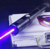 Strong 450nm 200000m Blue Laser Pointer Pen High Power Military Beam Visible Burn Tactical light cigarette burn dry wood