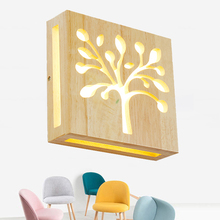 Japanese Style Art Decoration LED Wall Lamp Creative nostalgic Wooden Wall Light for Restaurant Bedroom Bedside Aisle Indoor
