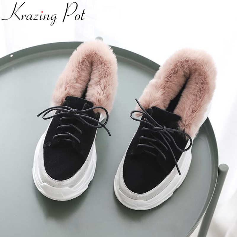 Krazing Pot 2019 new genuine leather brand shoes lace up casual round toe sneake