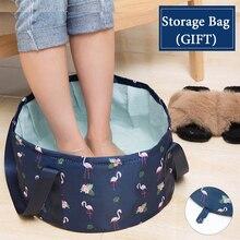 Складной умывальник для путешествий, умывальник для кемпинга, ведро для рыбалки, водонепроницаемый складной бассейн для ног, ванна, раковина, корзина для мытья спа, ведро для ног