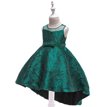 купить 2019 Dress Girl Floral Kids Dresses for Girls Summer Dress Appliques Ball Gown Wedding Party Vestido Infantil Girl Clothes дешево