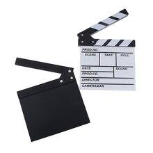 Tablilla acrílica para vídeo de Director, de 20x20cm, película de TV de borrado en seco, Clapper de película, pizarra con palos de Color