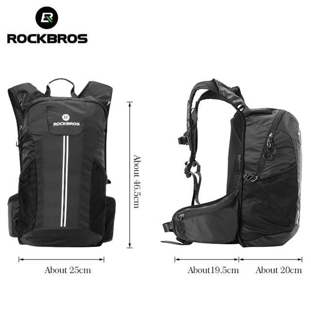 Rockbros ciclismo mochila bicicleta à prova de chuva sacos de desporto acampamento ao ar livre viajar caminhadas sacos respirável alta capacidade 6