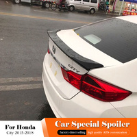 For Honda City Black Rear Spoiler 2015 2016 2017 2018 Car Tail Wing Decoration ABS Plastic Unpainted Primer Rear Trunk Spoiler