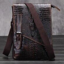 New 2016 vintage genuine leather bag sacoche homme messenger bag men leather