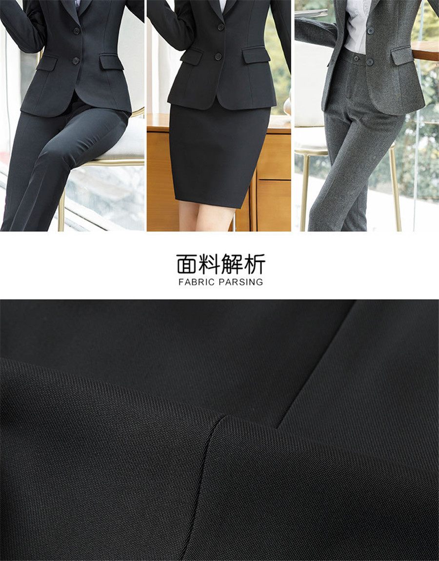 Work Fashion Pant Suits 2 Piece Set for Women singel Breasted solid color Blazer Jacket&Trouser Office Lady Suit Feminino 14