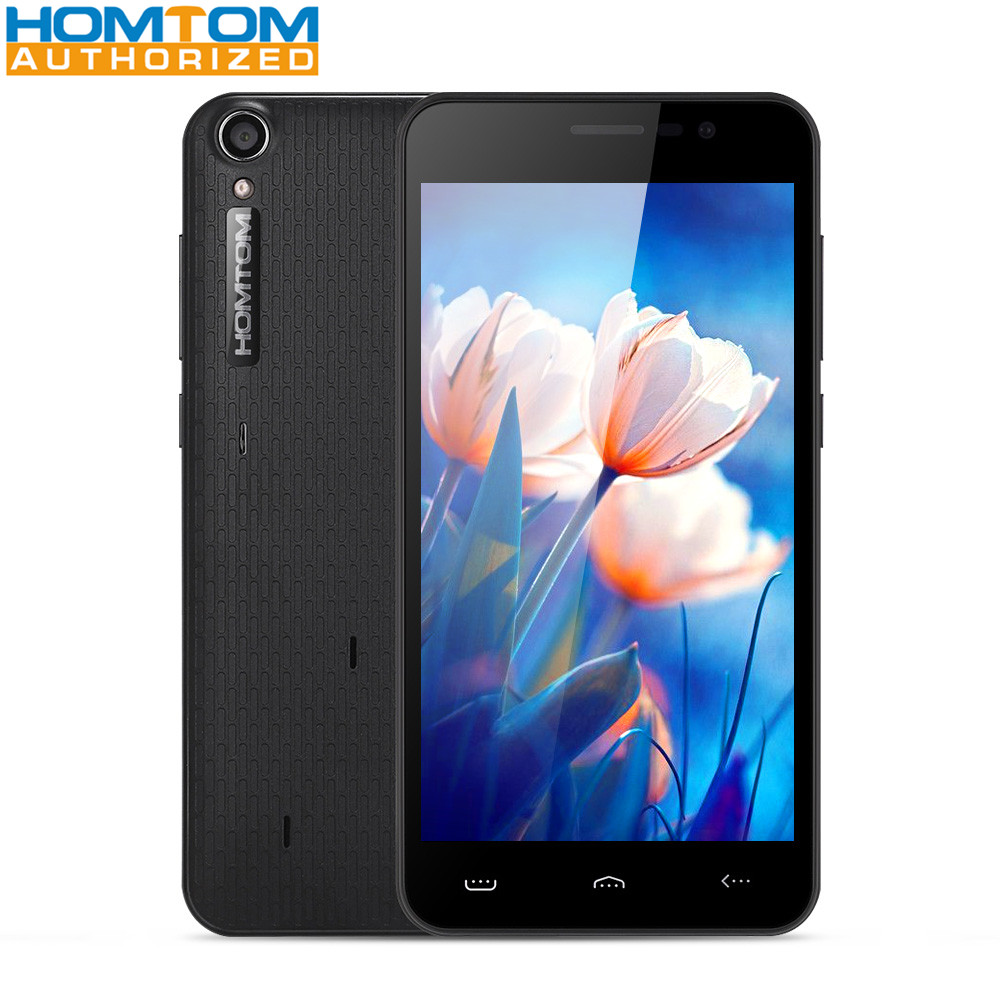 Homtom HT16 3G Smartphone 5.0 pouces Android 6.0 MTK6580 Quad Core 1 GB RAM 8 GB ROM 3000 mAh réveil geste 5MP caméra téléphone Mobile