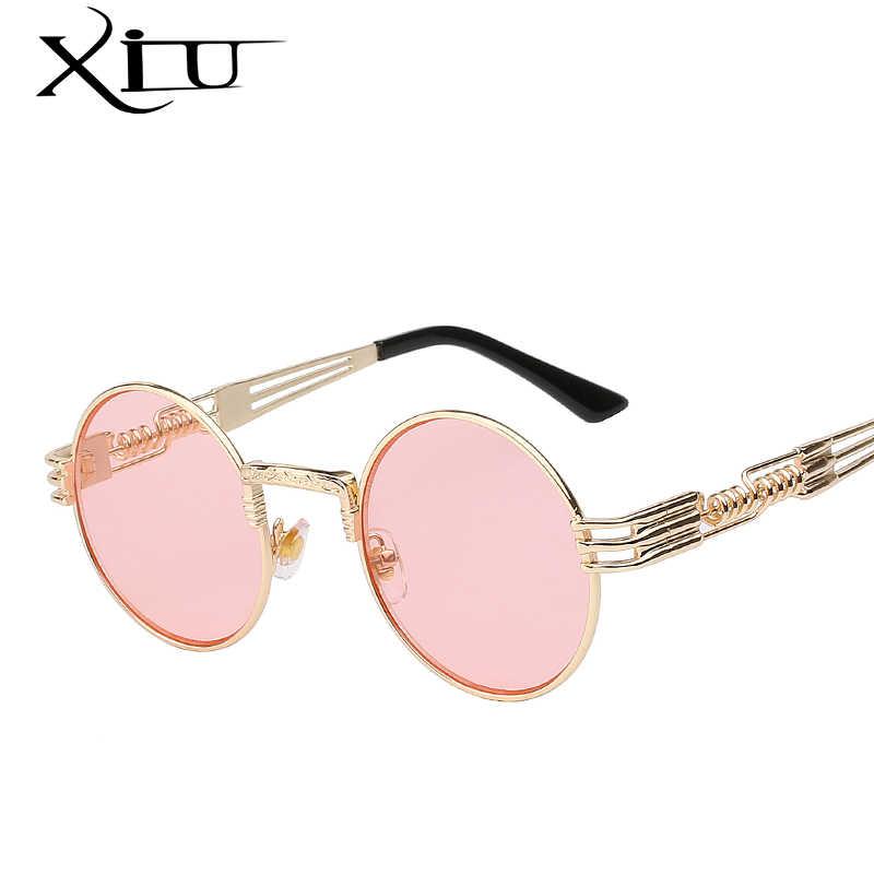 edee6f6418 ... Luxury Metal Sunglasses Men Round Sunglass Steampunk Coating Glasses  Vintage Retro Lentes Oculos of Male Sun ...