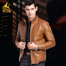 2016 spring new men's casual collar PU leather jacket