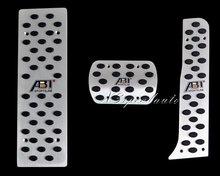 3PCS AT Aluminum Foot Pedal Rest Plate FOR VW JETTA GOLF MK5 Tiguan Touran Scirocco MK3 MK