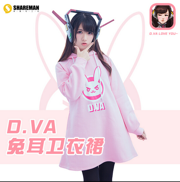 DVA costume!! Cosplay DVA costume pink fashion hoodie Movie Coser High Quality Custom стоимость