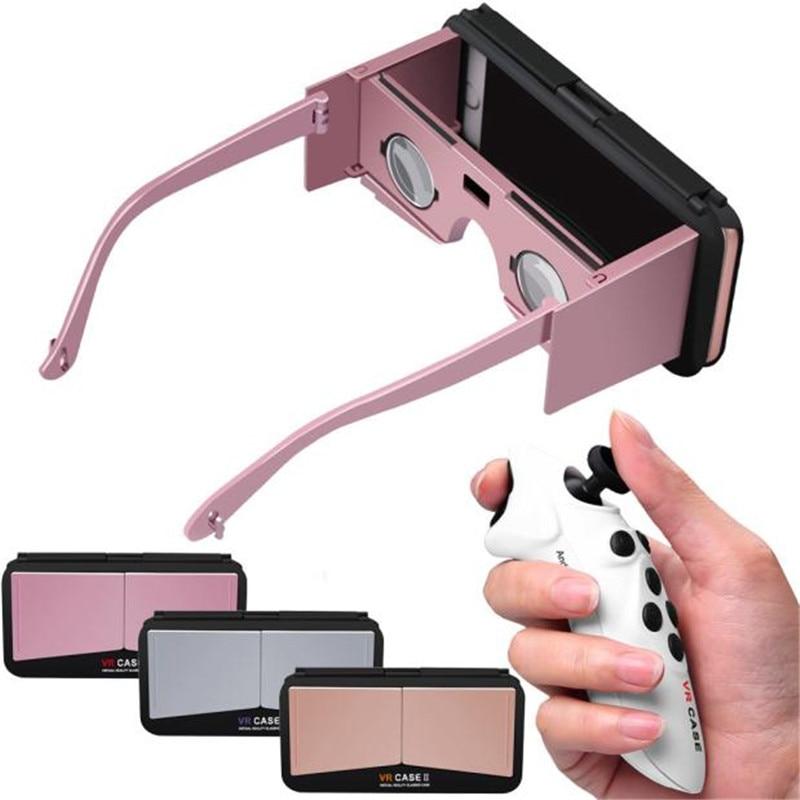 Vr 3d caja del teléfono móvil google bluetooth gafas de realidad virtual para ip
