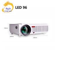 Poner Saund LED96 LED Projector Video 1280x800 Full HD 1080P Home theater projector proyector 3D projector BT96 HDMI USB Vs M5