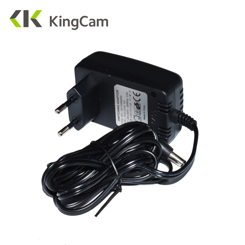 Kingcam AC 100-240V DC 12V 1.1A EU Plug AC/DC Power adapter charger Power Adapter for CCTV Camera (2.1mm * 5.5mm) ac 110 240v to dc 12v 1a power supply adapter for cctv hd security camera bullet ip cvi tvi ahd sdi cameras eu us uk au plug