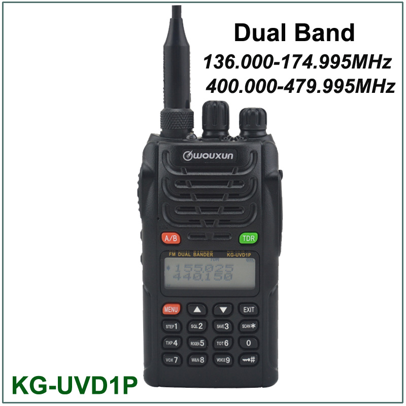imágenes para Wouxun KG-UVD1P VHF/UHF Radio de Doble Banda 136.000-174.995 MHz y 400.000-479.995 MHz FM Transmisor-Receptor