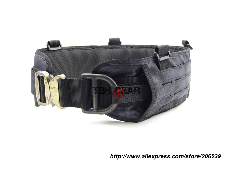 TMC MOLLE Belt Laser-Cut PALS Padded Belt Rigger Belt Tactical MOLLE Belt In Kryptek Typhon+Free shipping(SKU12050461)