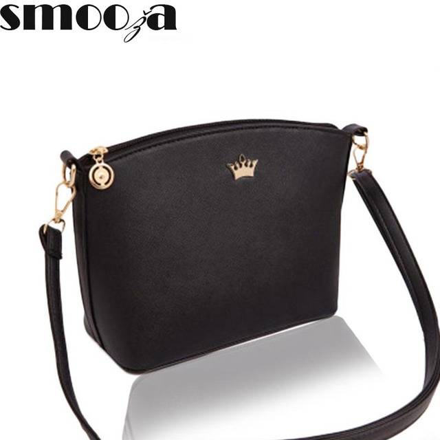 Smooza Casual Small Imperial Crown Handbags New Fashion Clutches Las Party Purse Women Crossbody Shoulder Messenger