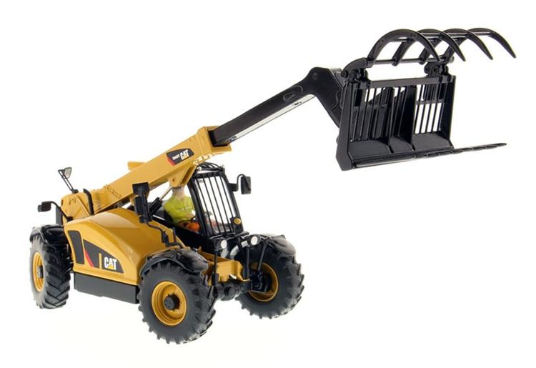 DM 1: 32 CAT TH407C Caterpillar Telescopic arm forklift model 85278 Alloy engineering vehicle model Collection model Tin packagi