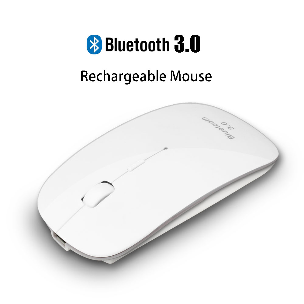 Uhuru Rechargeable USB Bluetooth 3.0 Wireless Mouse Mute Silent Click Mini Noiseless Optical Mouse 1200 DPI for PC Laptop