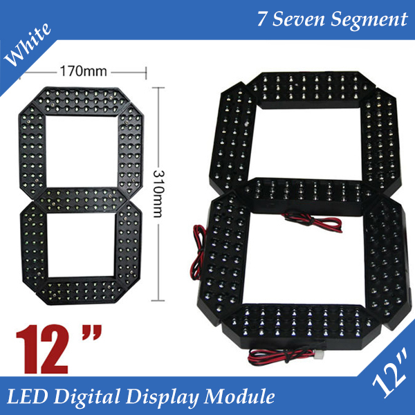 10pcs/lot 12 White Color Outdoor 7 Seven Segment LED Digital Number Module for Gas Price LED Display module 10pcs/lot 12 White Color Outdoor 7 Seven Segment LED Digital Number Module for Gas Price LED Display module