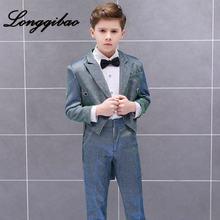 Смокинг для маленьких мальчиков Детский костюм банкетное платье