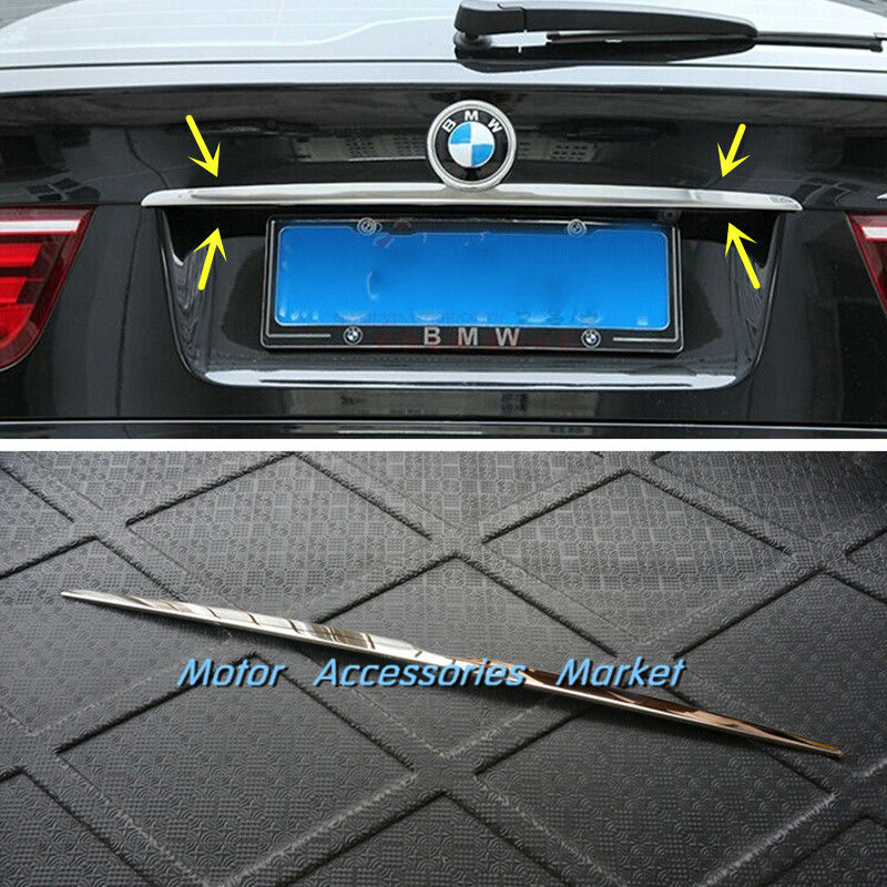 New Stainless Steel Chrome Rear Door Trunk Lid Trim for BMW X5 E70 X6 E71 2008