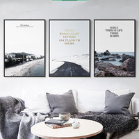 Seagulls Highway Black White Feather Snow Leaves Sunlight Spray Artistic Beauty Art Picture Canvas Posters For