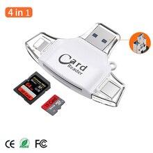 Adaptateur de carte Micro SD, TF, mémoire Flash, pour Apple iPhone, iPad, téléphone Android, MacBook, ordinateur