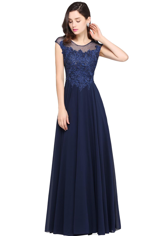 Babyonline elegante azul marino lentejuelas Encaje Vestidos de