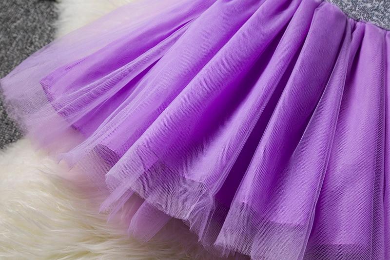 Princess Kids Baby Fancy Wedding Dress Sequins Formal Party Dress For Girl Tutu Kids Clothes Children Backless Designs Dresses