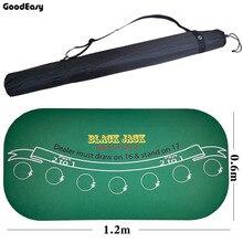 120*60 см замша резина черный джек 21 очки баккара казино скатерть для покера зеленый стол коврик доска ткань высокое качество