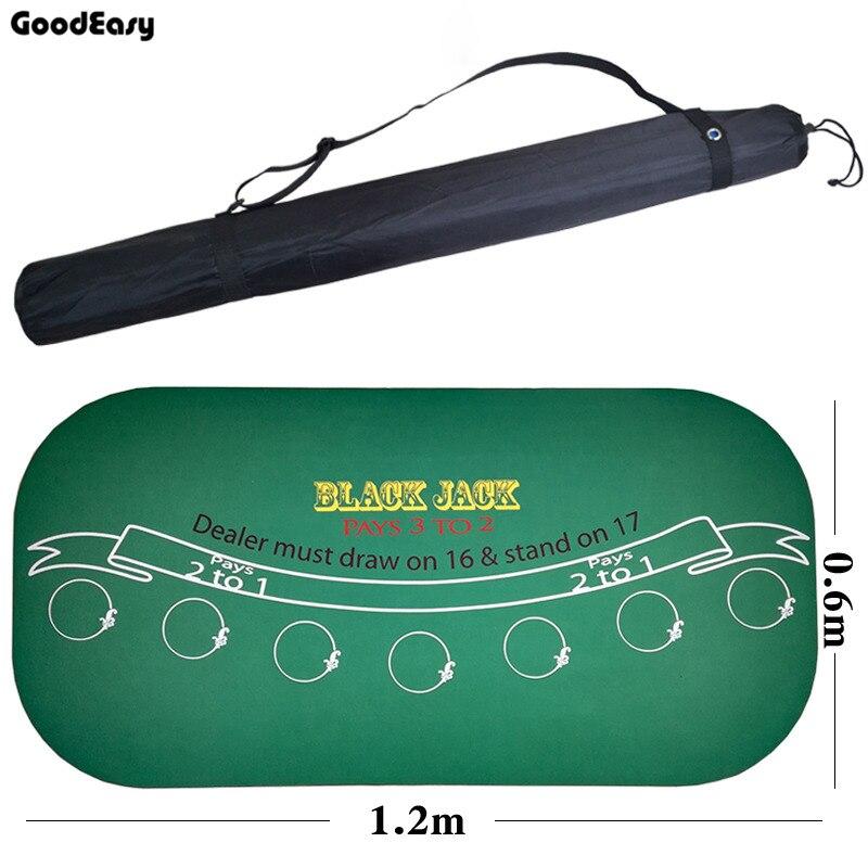 120*60 cm camurça borracha preto jack 21 pontos baccarat casino poker toalha de mesa verde tapete placa pano alta qualidade