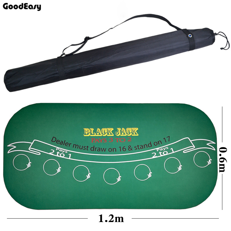 120*60Cm daim caoutchouc noir Jack 21Points Baccarat Casino Poker nappe vert tapis de Table conseil tissu de haute qualité