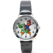 Симпатичные 3D прекрасный мультфильм Дети Девушки Парни Дети Студенты Супер Марио кварцевые наручные часы очень популярны часы