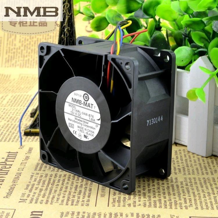 For NMB 3115RL-04W-B76 8038 80mm 8cm DC 12v 1.6A 8CM Winds Of PWM Fan Speed Control