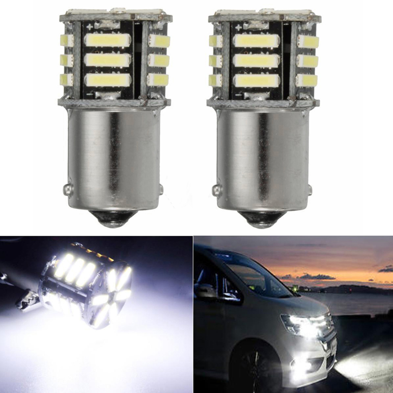 HNGCHOIGE 2Pcs for Canbus No Error White LED Tail Backup Reverse Light Bulb BA15S 1156 7506 P21W