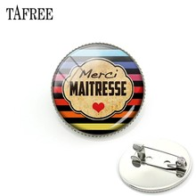 TAFREE merci MAITRESSE French Style Brooches Pins For Men Women Teacher's Day Gifts Brooch Clothes Accessories New Jewelry CT304(China)