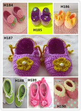 Crochet baby first walker shoes white  Softcotton Fashion Handmade infant Shoes 0-12M Crochet baby