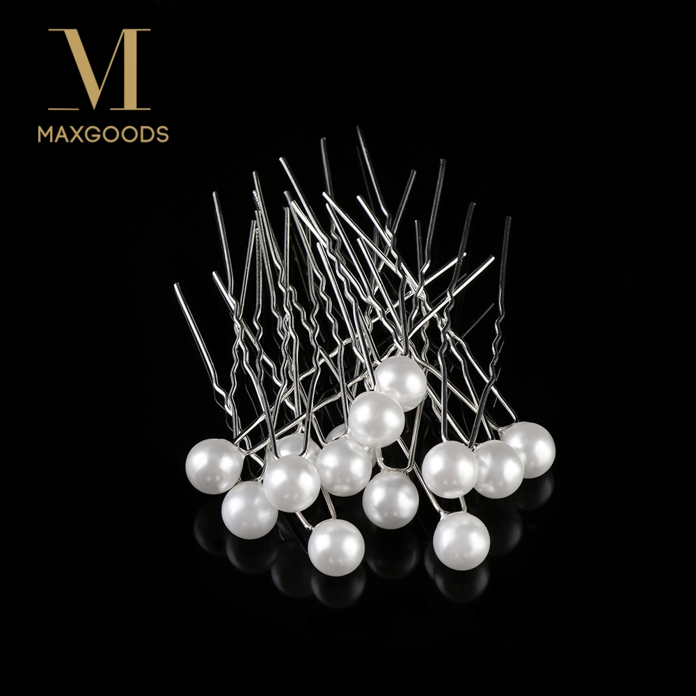 20PCS Fashion Bridal Wedding Prom White Pearl Hair Pins Clips Barrette Hairpins Hair Accessories Wholesale Шпилька