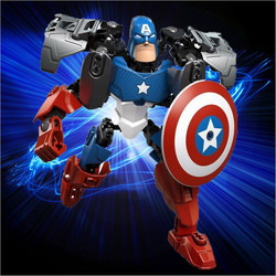 Avengers Hero Captain American&Hulk&Iron Man&Batman&Clown Puzzle Action Figure Toy Building Blocks Christmas Gift  For Kids