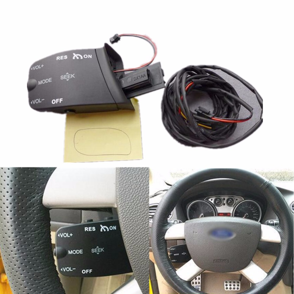 1 set Steering Wheel Control Buttons Audio Volume Cruise Control Switch For Ford Focus 2005-2011 steering wheel audio control switch for toyota camry highlander hilux vigo grand new quality audio buttons