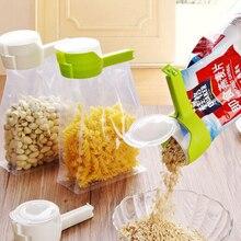 Зажим для закусок, герметичный зажим для сохранения свежести, пластиковый зажим для хранения еды, для путешествий, кухонные гаджеты, уплотнитель для хранения продуктов питания, зажим для сумки