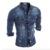 2017 Nueva Moda Denim Jeans Camisa de Los Hombres de Algodón Slim Fit marca Camisas Casuales Para Hombre de Manga Larga Camisa de Vaquero Vaqueros Camisa Masculina