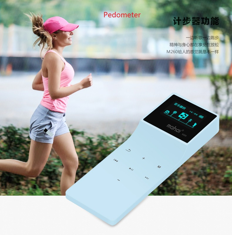 Mahdi Bluetooth MP3 Player 8G Lossless Music Player Touch MP3 24 Languages With Pedometer Recorder E-book Sport Clip Armband  (13)