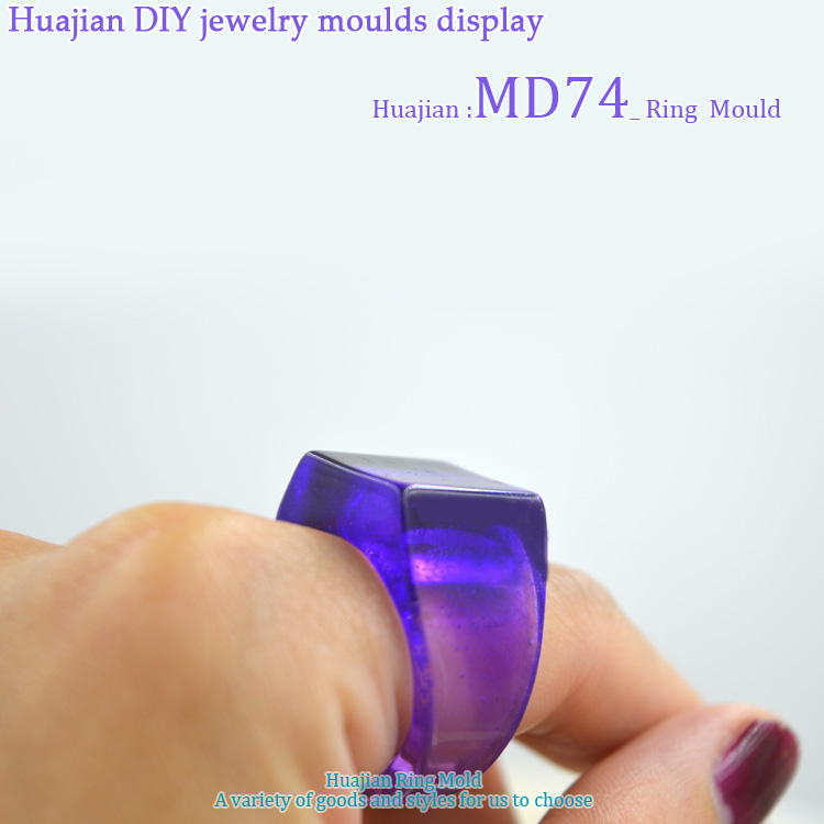 Flower Invitation Ring Mold MD74_Transparent Silicone Ring Mould For Epoxy Resin with Real Flower Herbarium DIY Mould