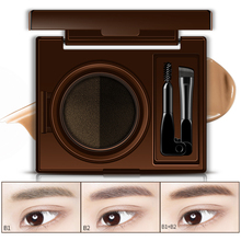 ROREC Double Color Air-cushion Dyeing Eyebrow Gel Waterproof Makeup Long Lasting Easy To Wear Create Natural
