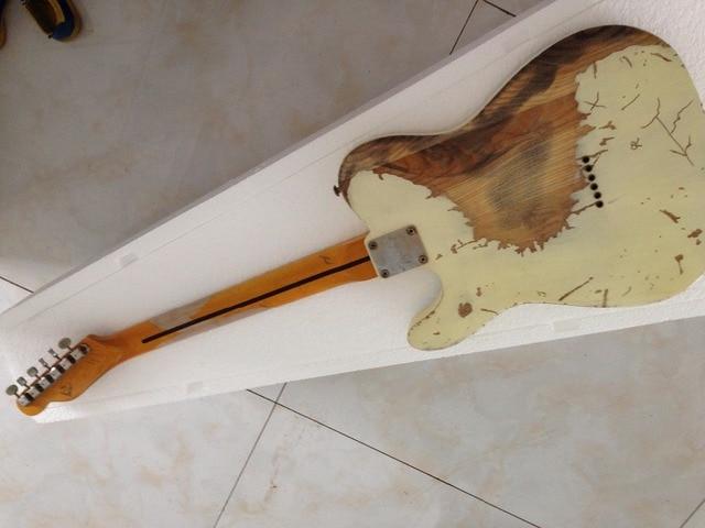 Handmade Relic electric guitar  humbucker pickups TL electric guitar Ash body 4