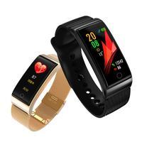 Blood Pressure Monitor tonometer Heart Rate Monitor Digital Smart Brand Wristband Watch Oxymeter Pedometer Smart Metal Bracelet