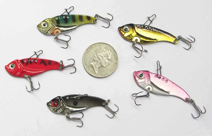 5 x Metal Switchblade / Vibe Style Lures Special Offer large