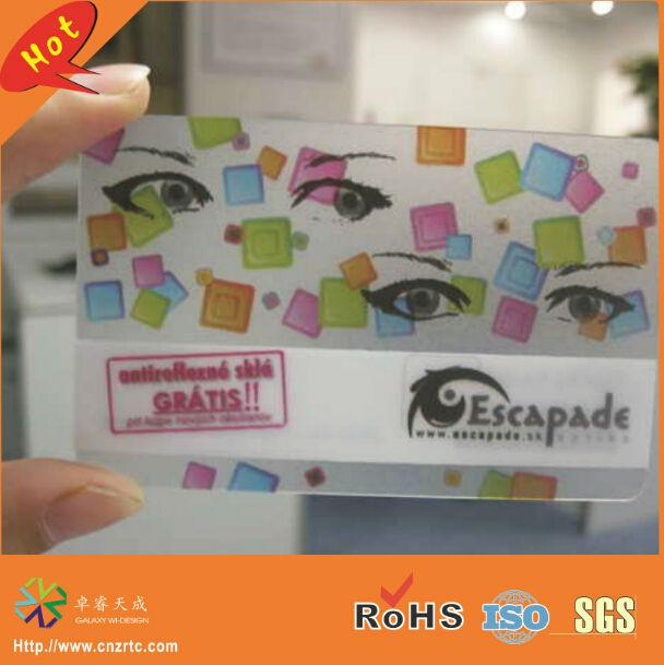 1000 Pcs Lot Vert Couleur Transparent Cartes De Visite Avec Code Barres Personnalis Clair PVC Tags Impression